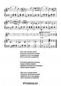 """Песня """"Елочка наша"""" В. Елинека: ноты"""